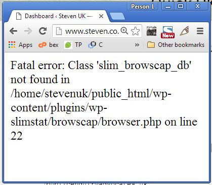 Slimstat Wordpress Plugin Error