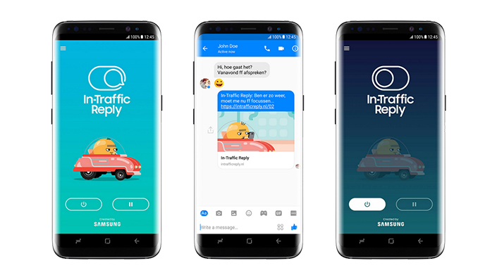 In-Traffic Auto-Reply Samsung