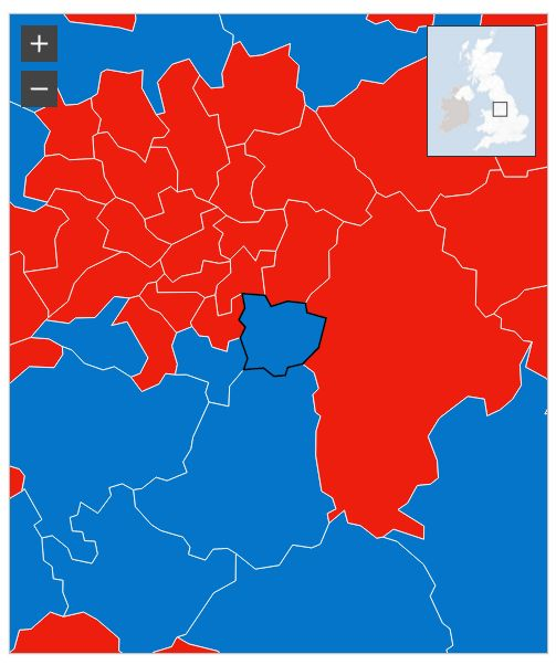 Local Area Election Results Map
