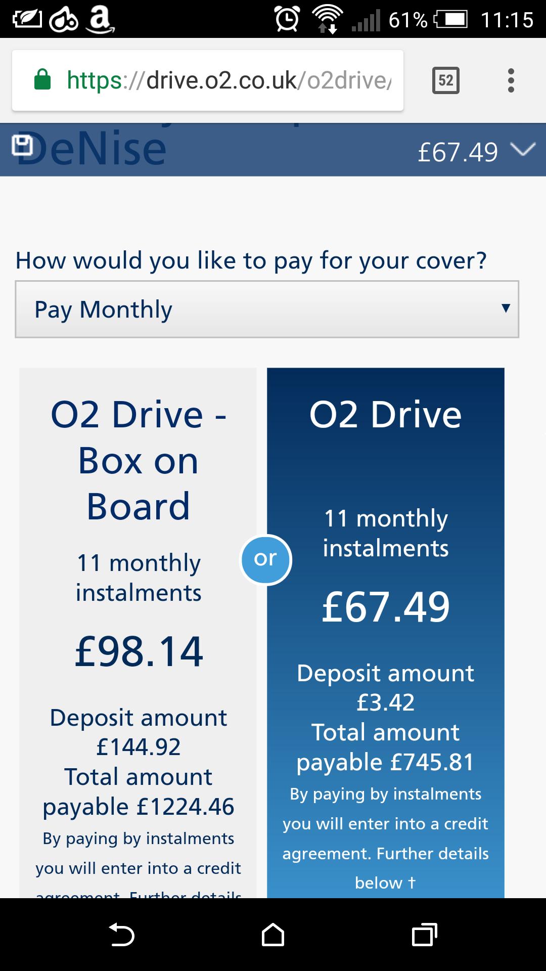 o2 Drive Insurance Madness