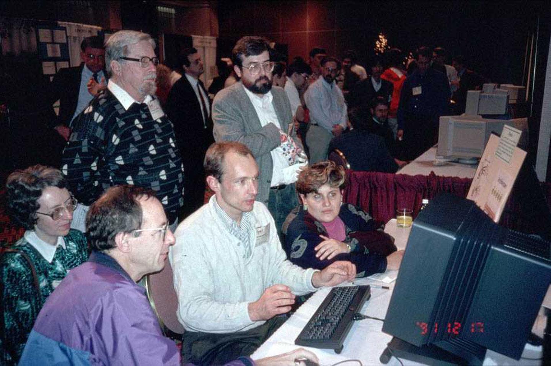 Tim Berners-Lee 1991 NeXT Computer